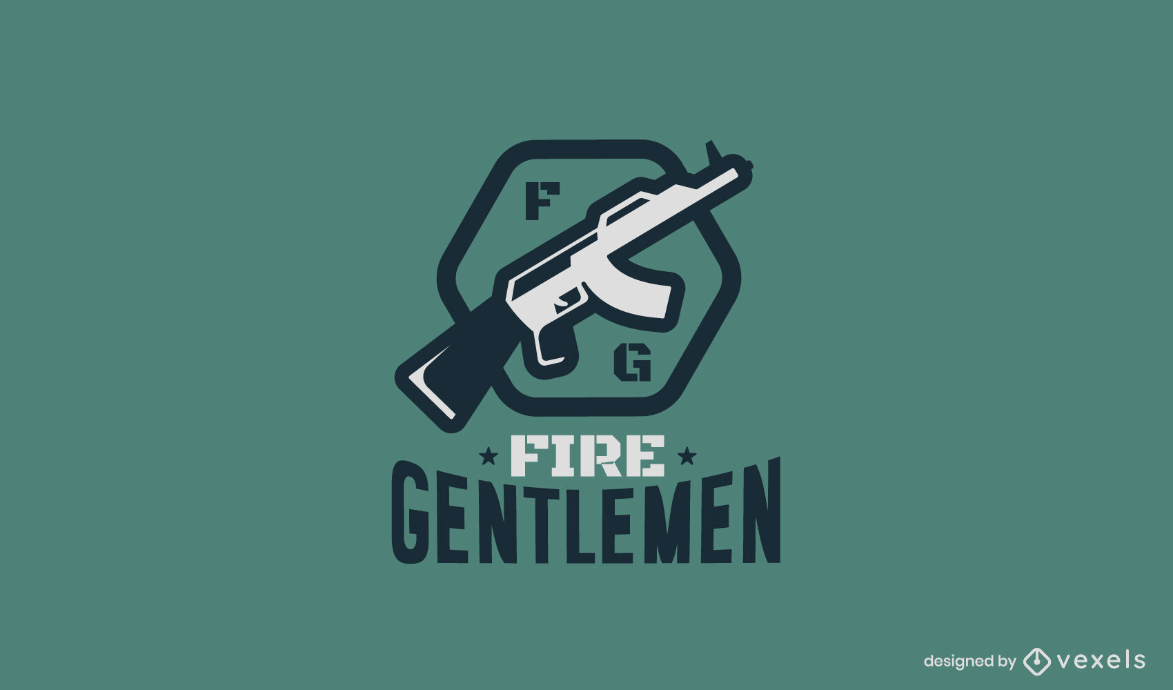 Gun weapon business logo template