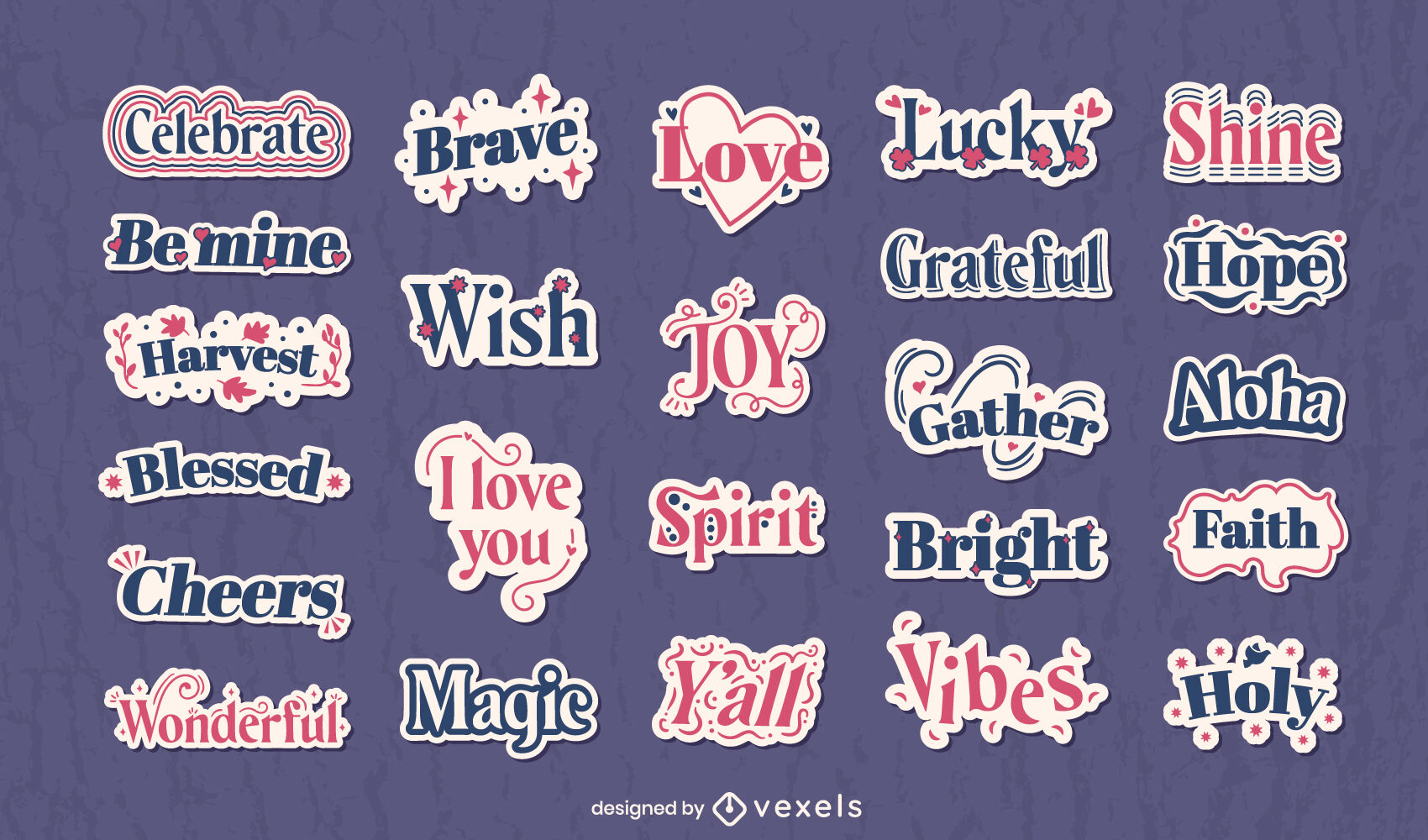 Positive sticker quotes collection