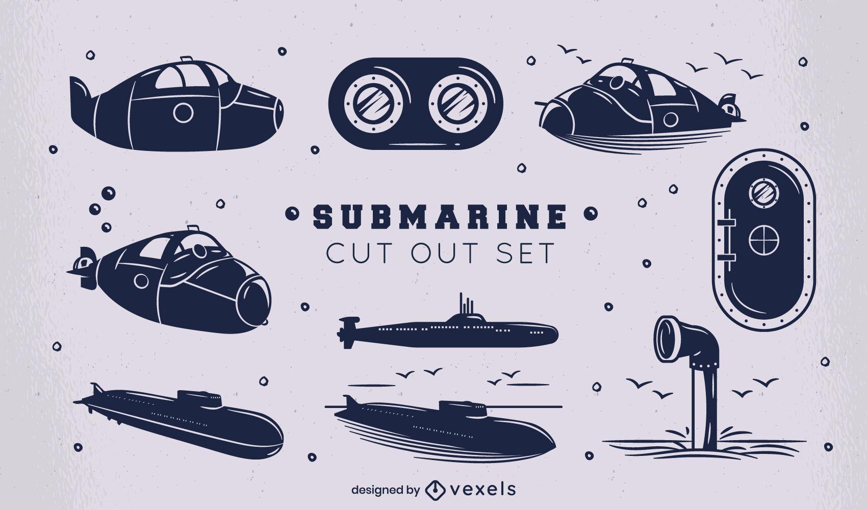Conjunto de corte de transporte mar?timo submarino