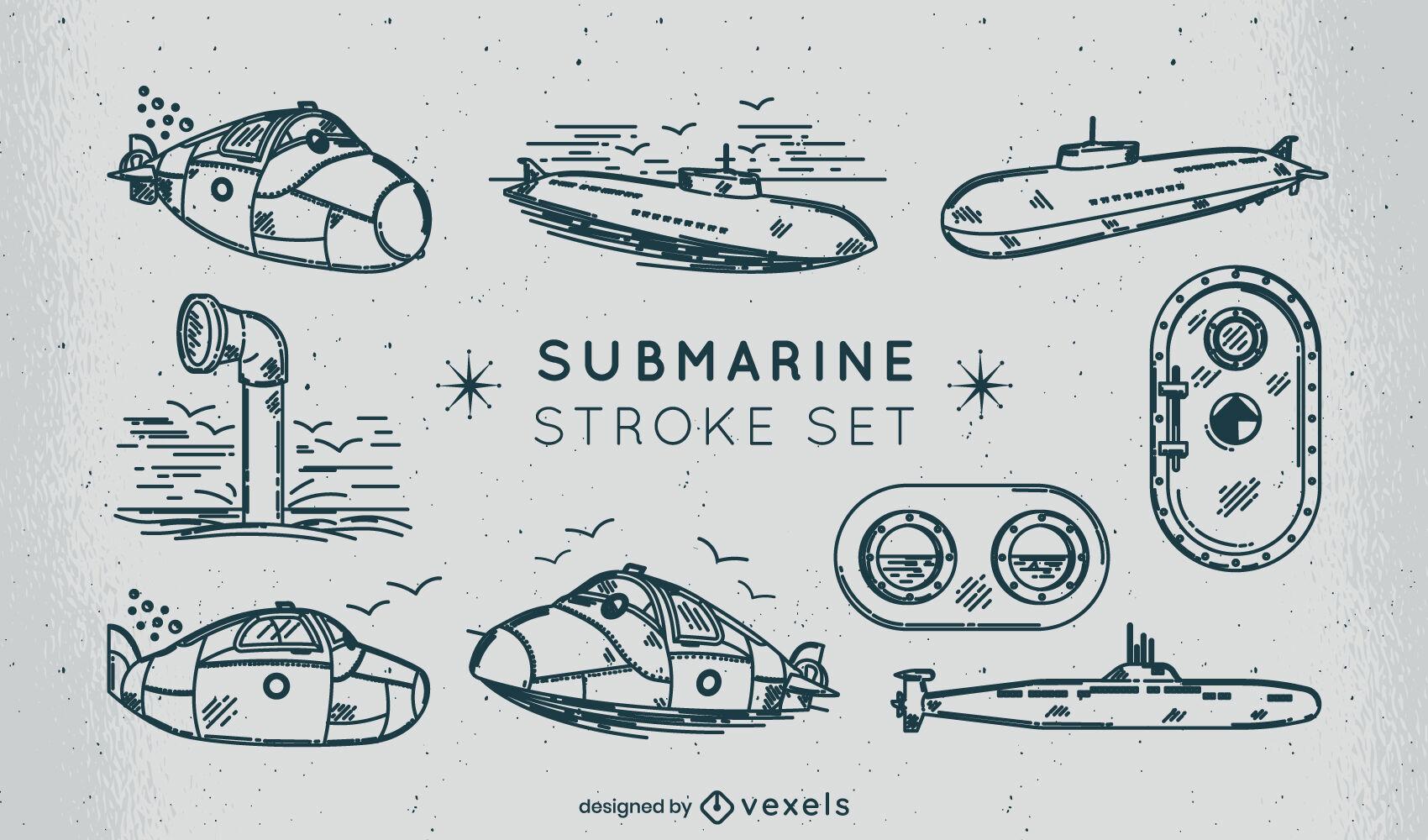 Submarine sea transport stroke set