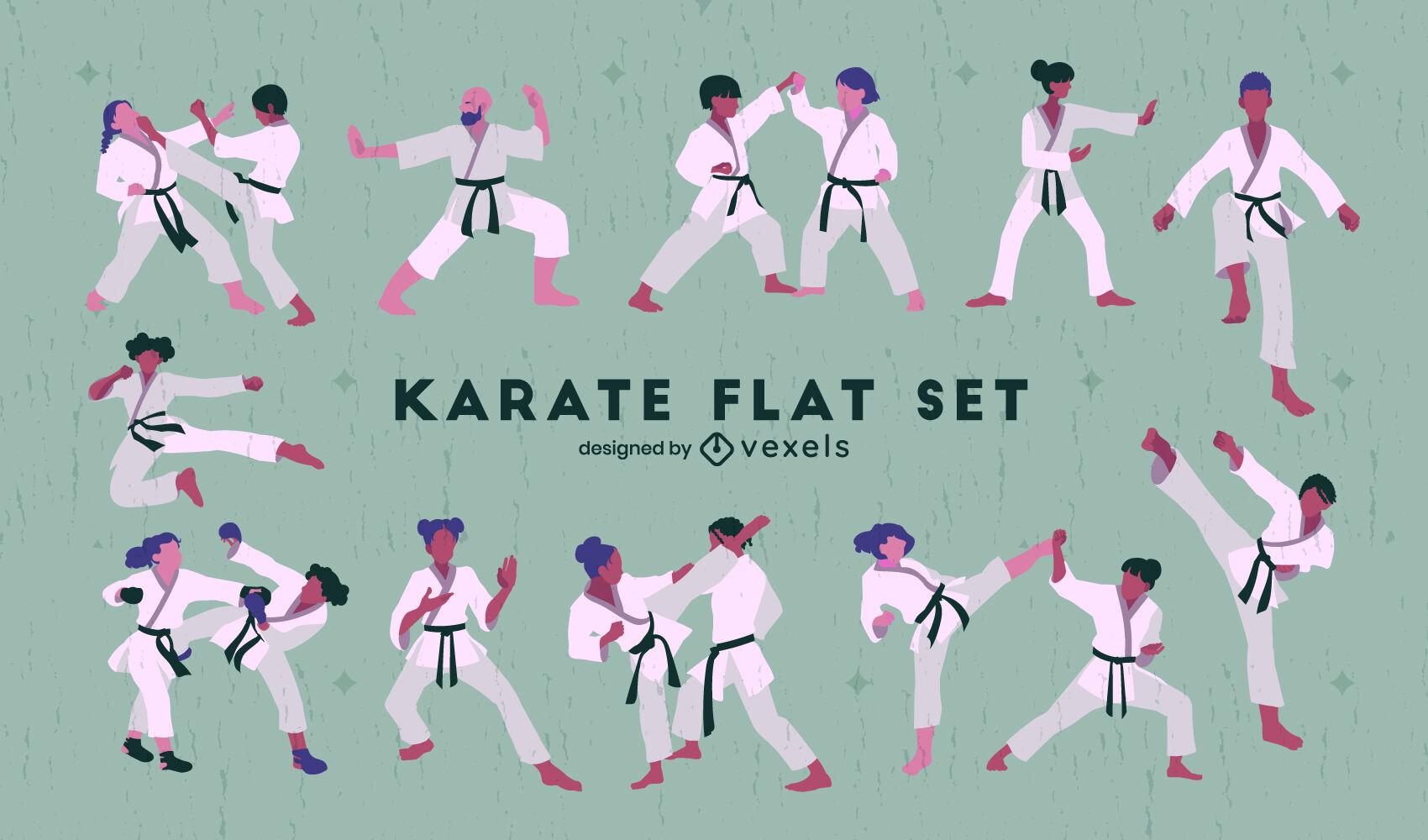 Movimentos de artes marciais de carat? que as pessoas definem