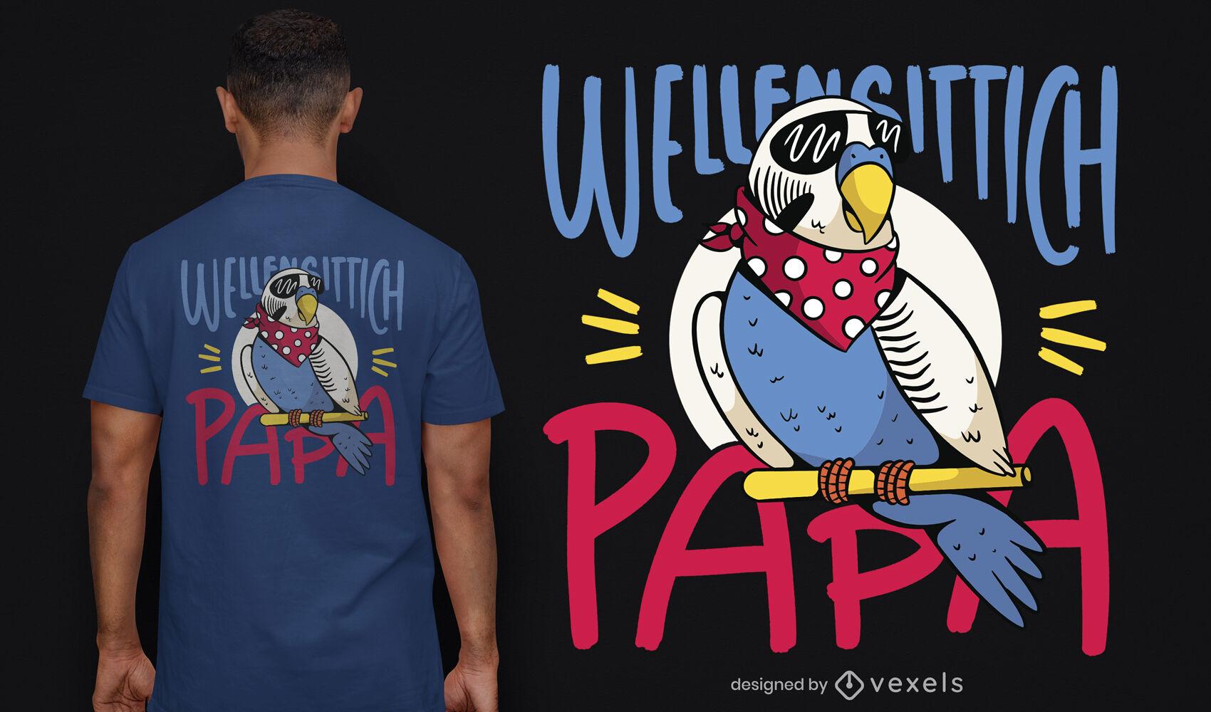 Cool parakeet bird t-shirt design