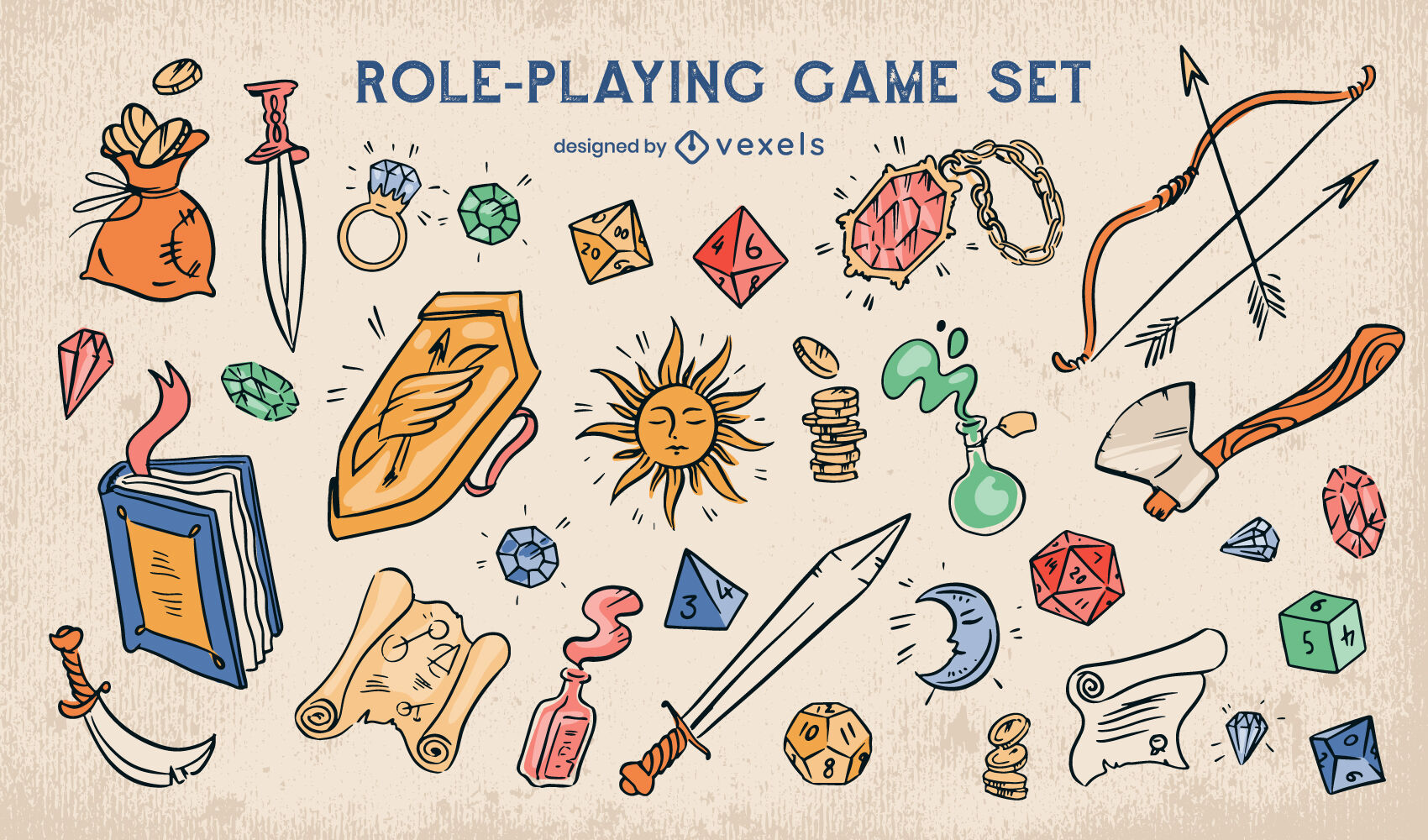 Fantasy role playing game elements set