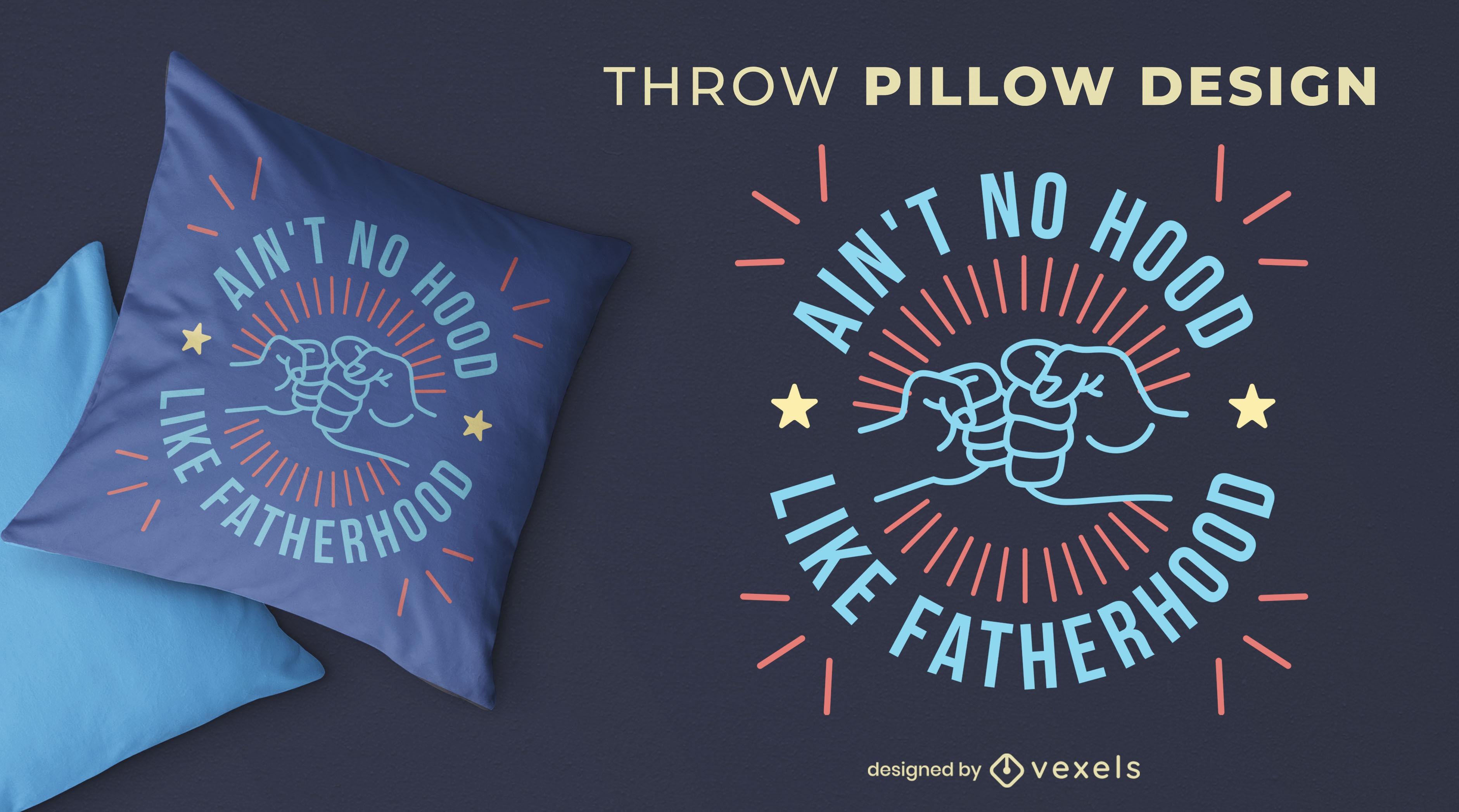 Fist bump funny throw pillow design