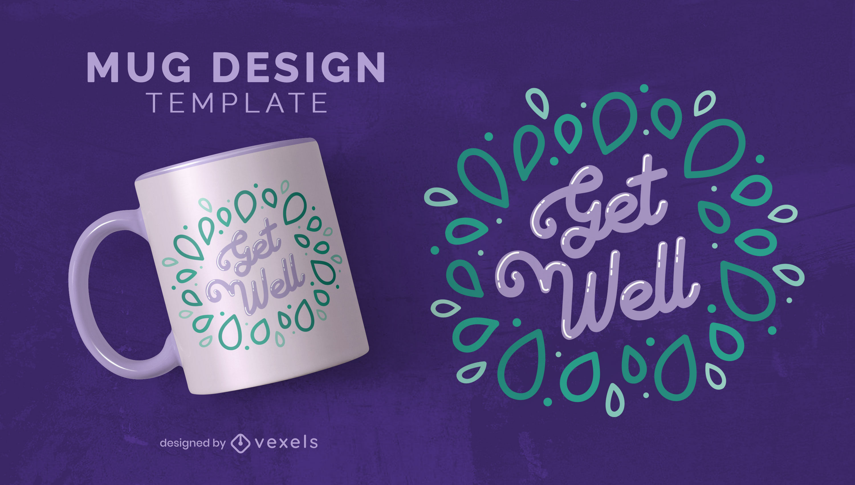Get well lettering mug template
