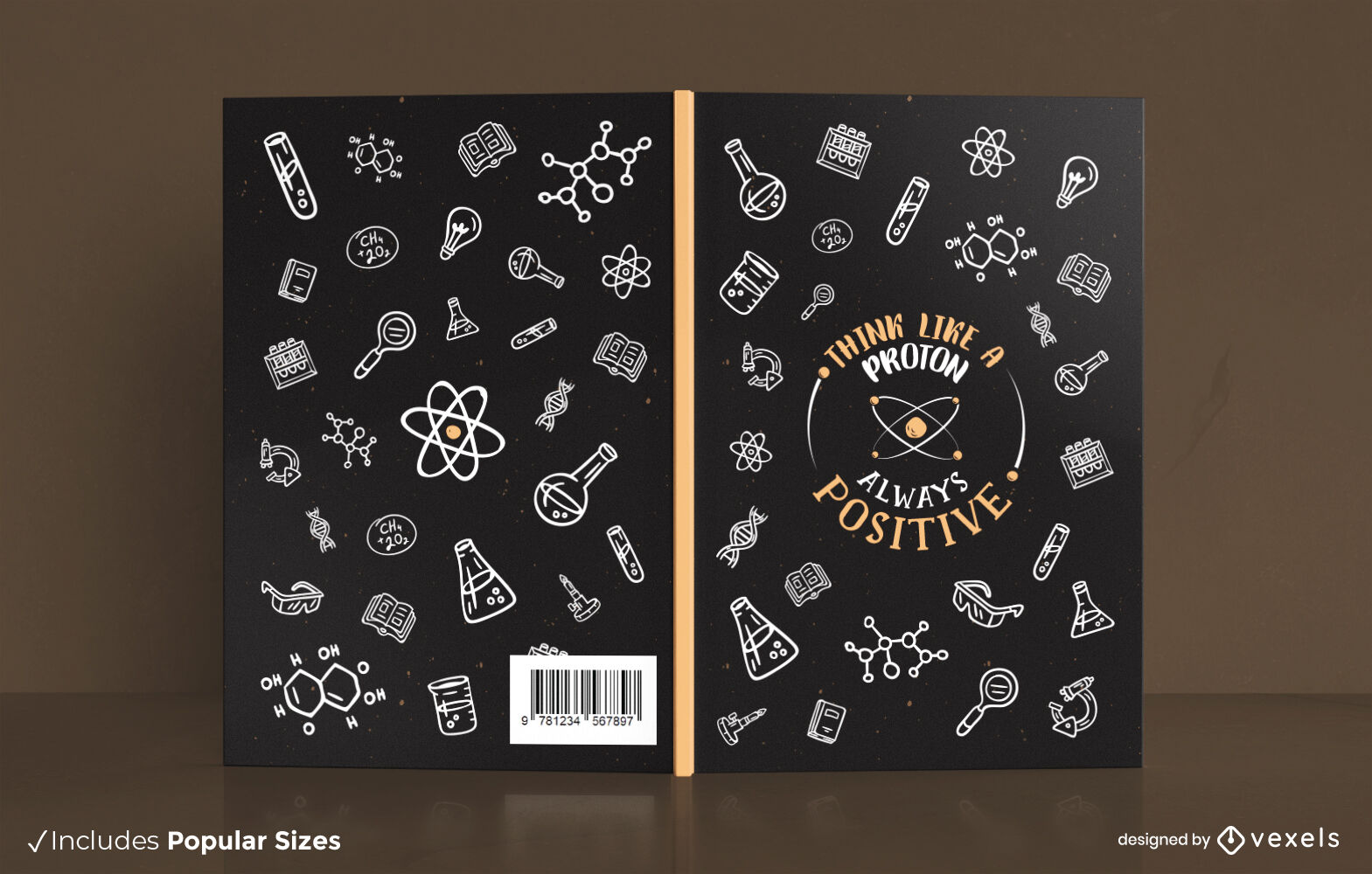 Chemistry science elements cover design