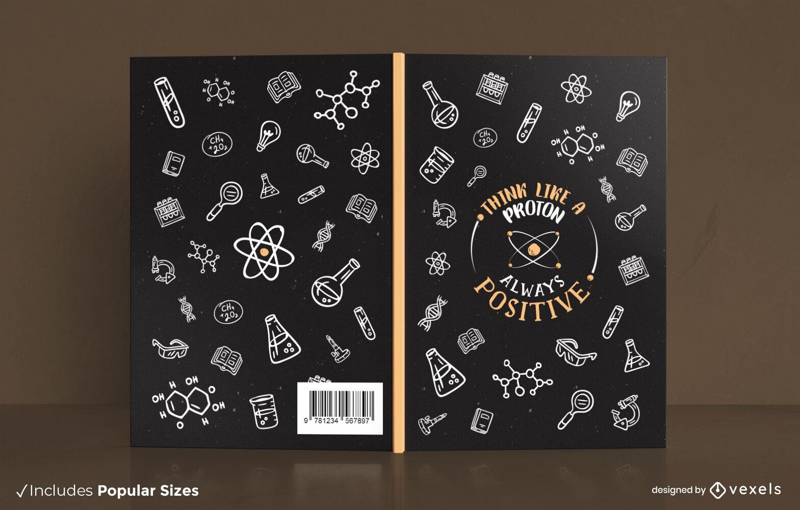 Dise?o de portada de elementos de ciencia qu?mica.