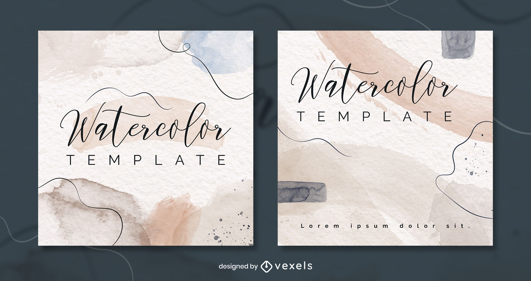 Watercolor pastel tones instagram post template