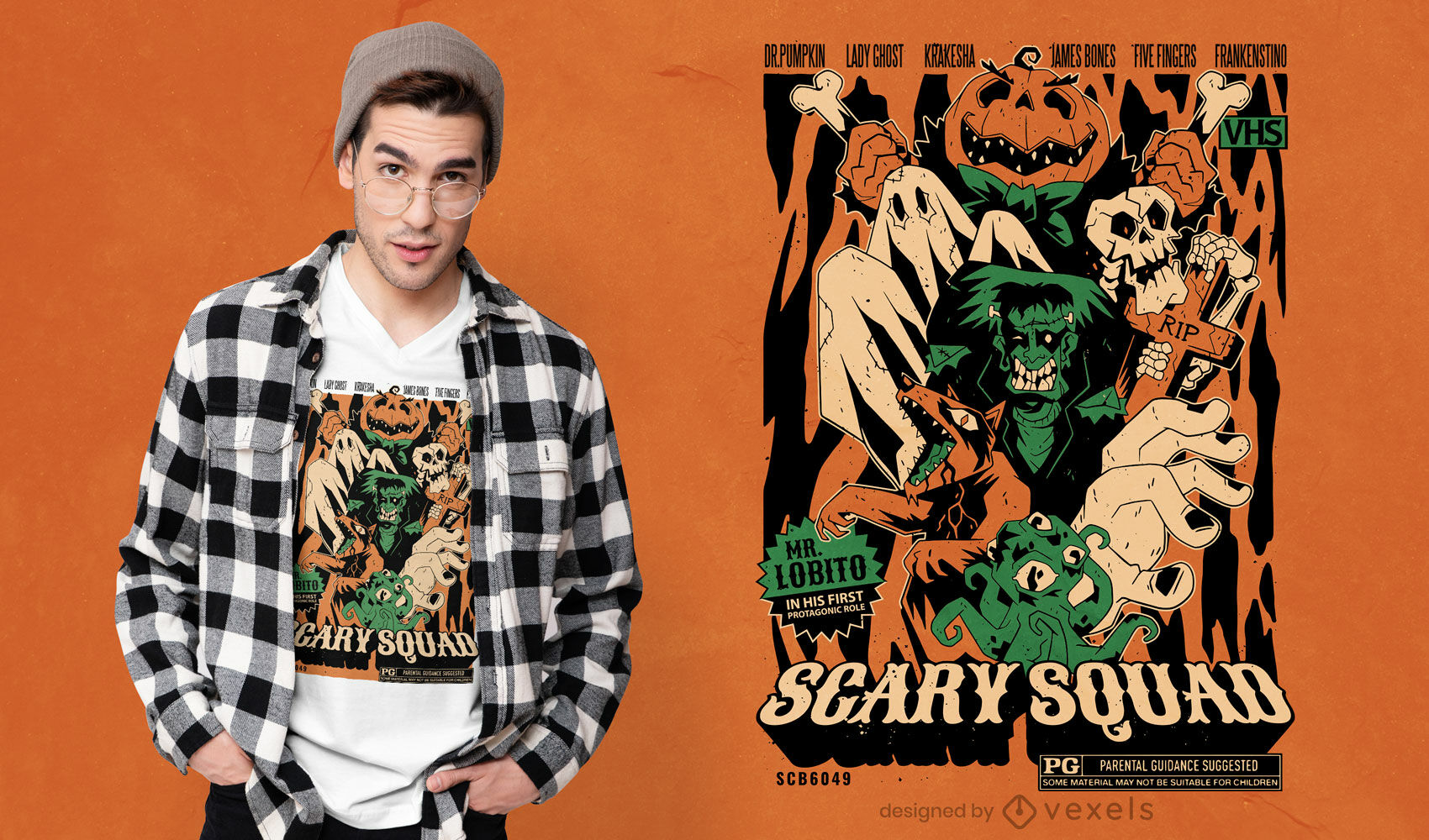 Scary monsters halloween t-shirt design