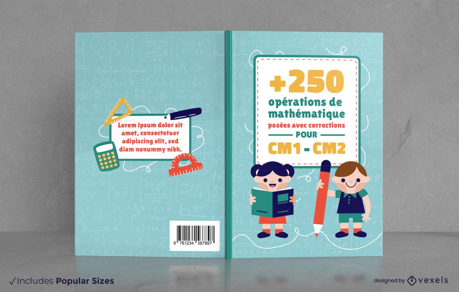 Mathebuch für Kinder-Cover-Design