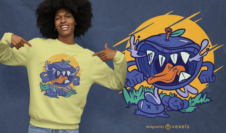 Diseño de camiseta Blueberry Monster