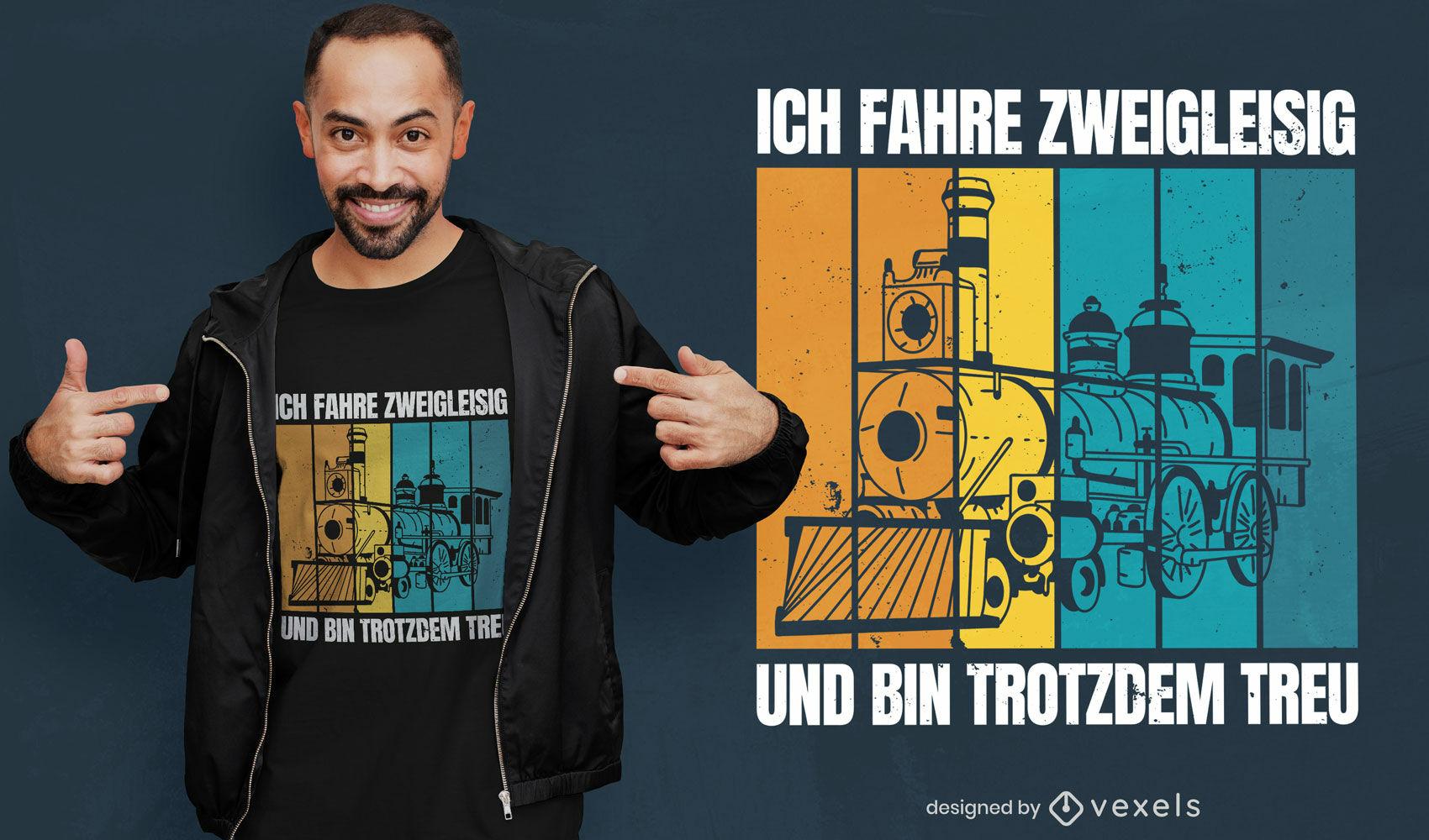 Diseño de camiseta alemana locomotora.
