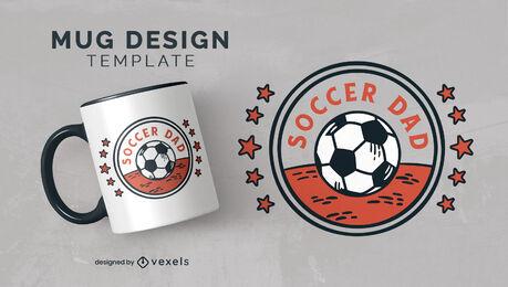 Soccer dad sport ball mug template