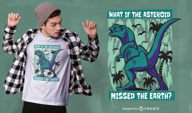 Dise?o de camiseta animal dinosaurio t-rex.