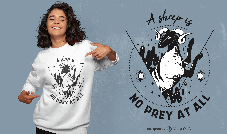 Diseño de camiseta de animales de granja de ovejas mágicas.