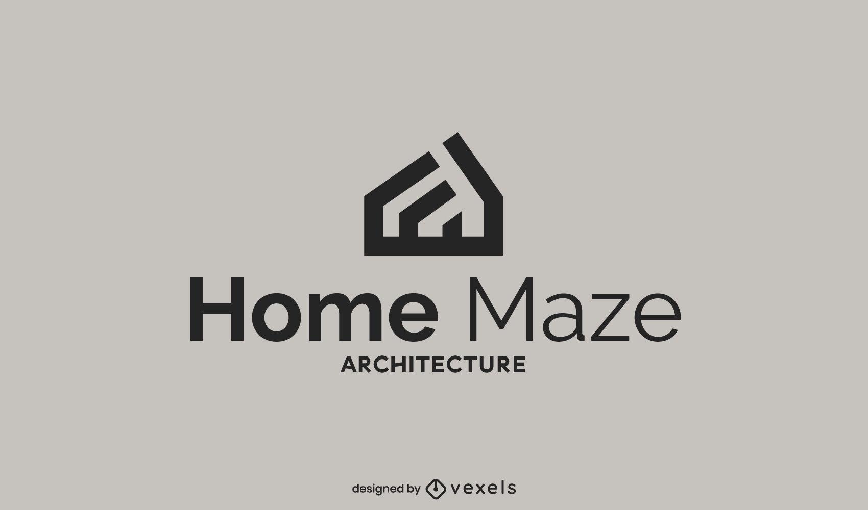 Plantilla de logotipo de forma de casa abstracta