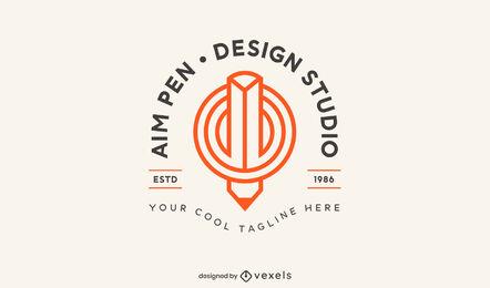 Designstudio Bleistift-Logo-Vorlage