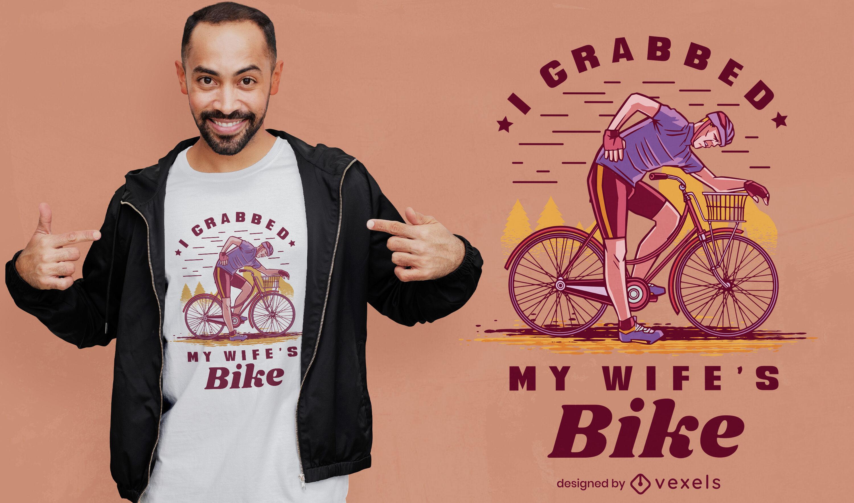 Man riding bicycle t-shirt design