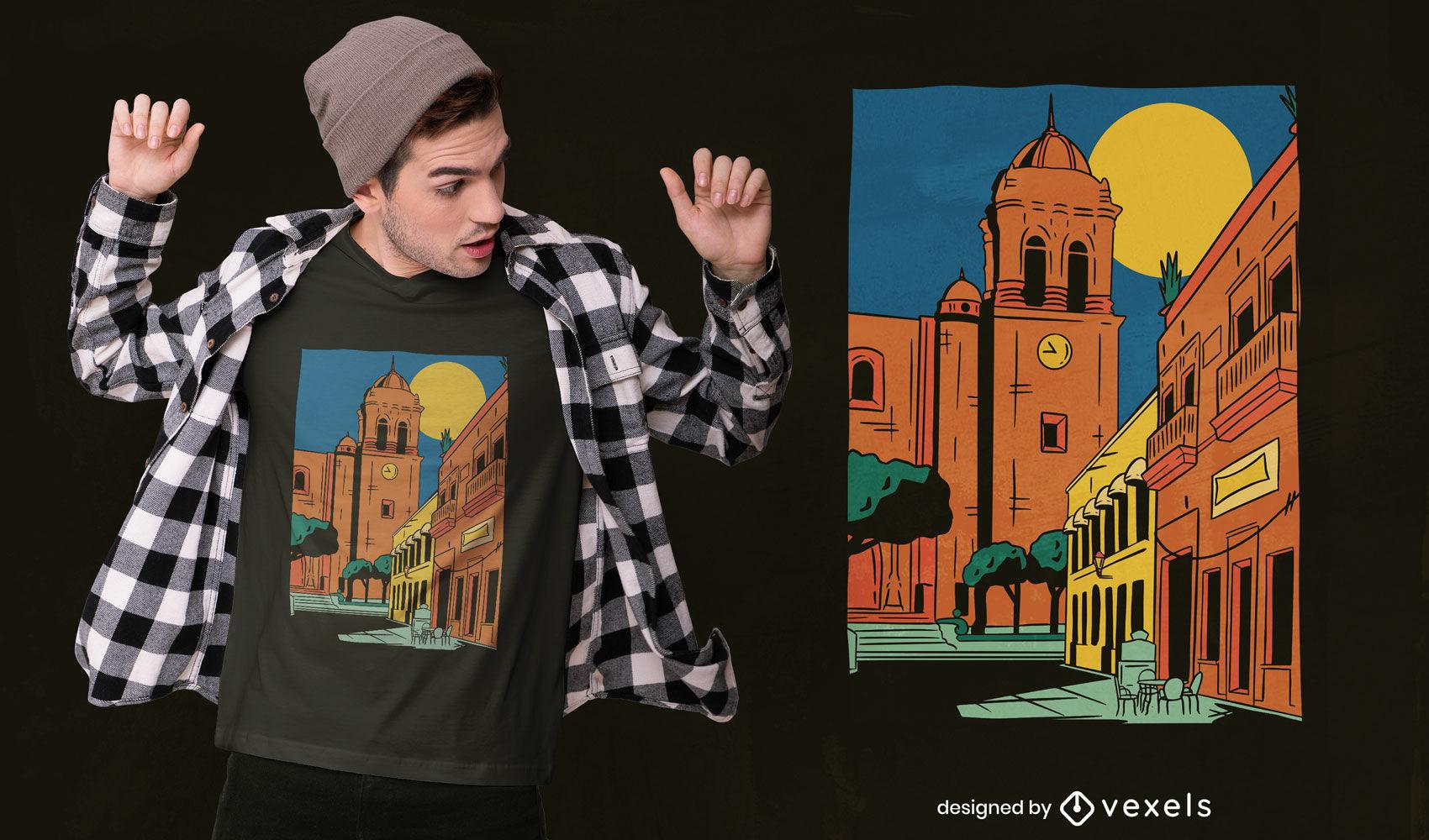 Dise?o de camiseta de la ciudad de Jalisco.
