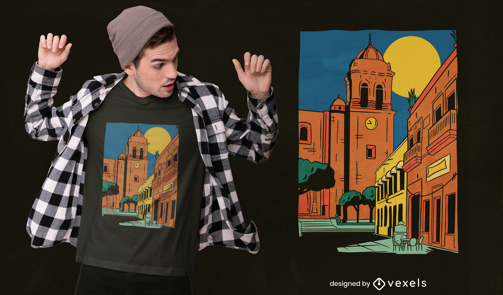 Jalisco city t-shirt design