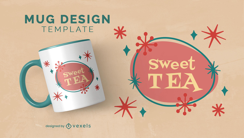 Retro sweet tea mug design