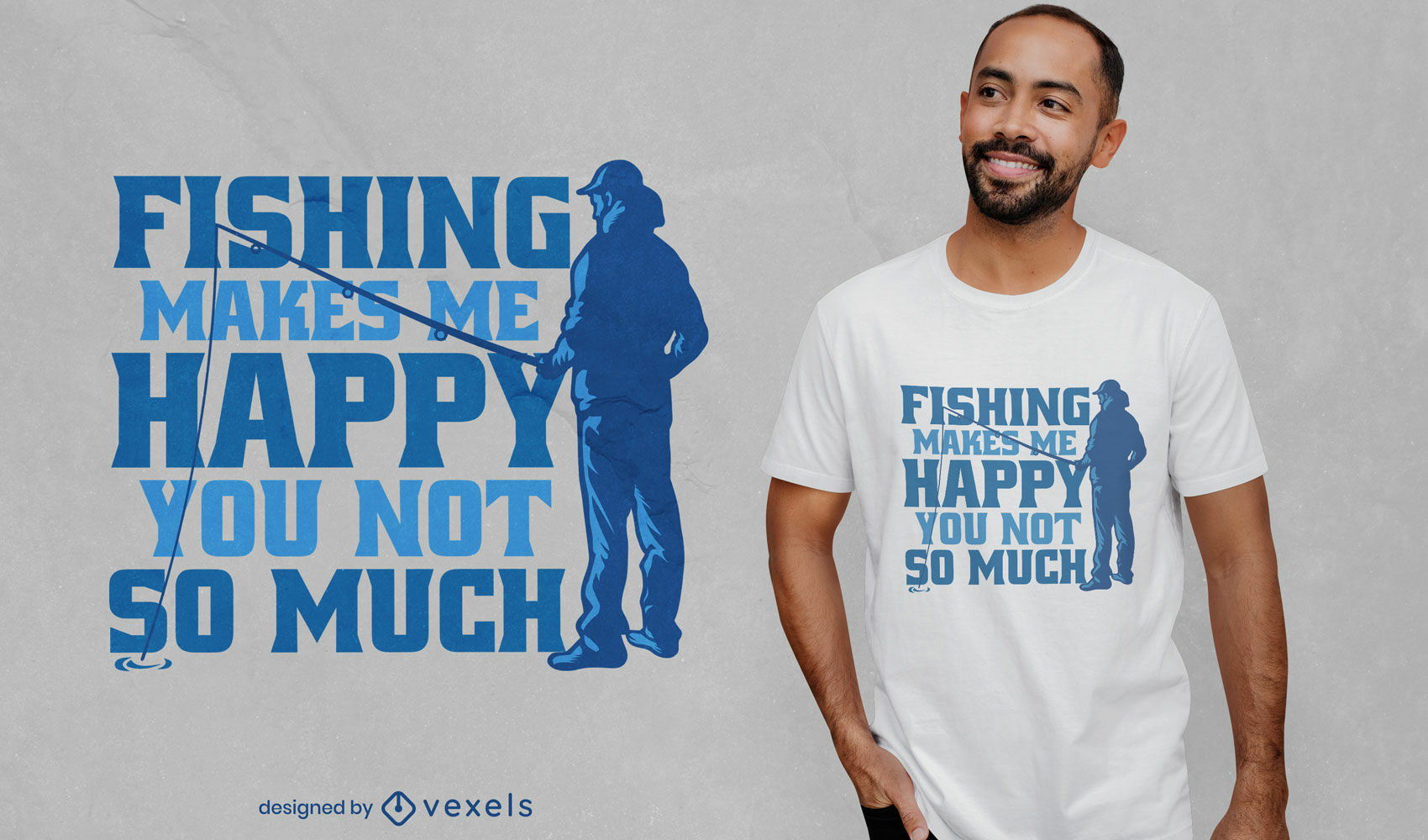 Diseño de camiseta divertida cita de pesca