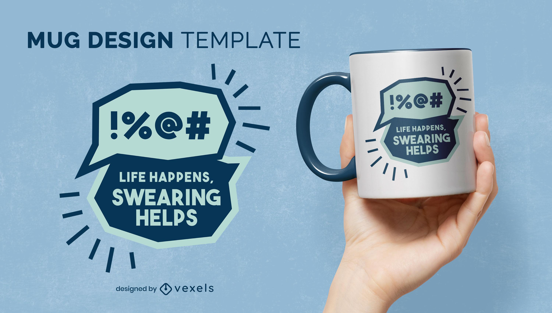 Funny swearing mug design