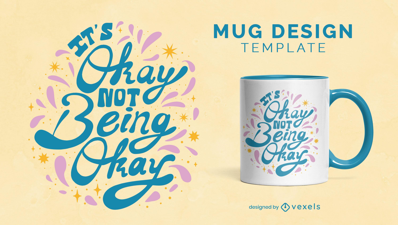 Wellness motivational lettering mug design