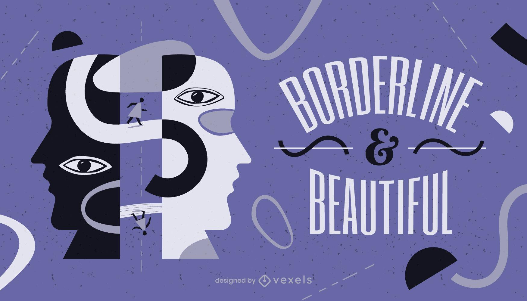 Borderline quote illustration design