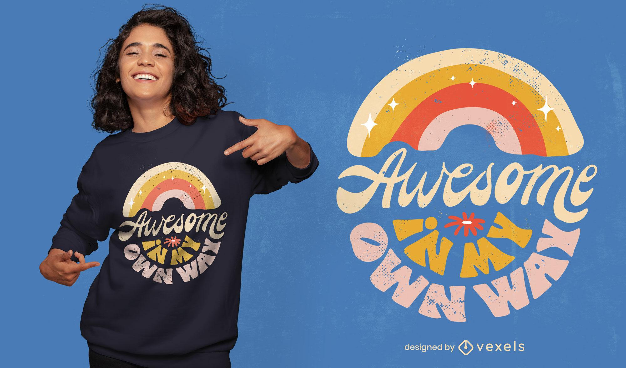 Fantastisches Retro-T-Shirt-Design mit Vielfalt