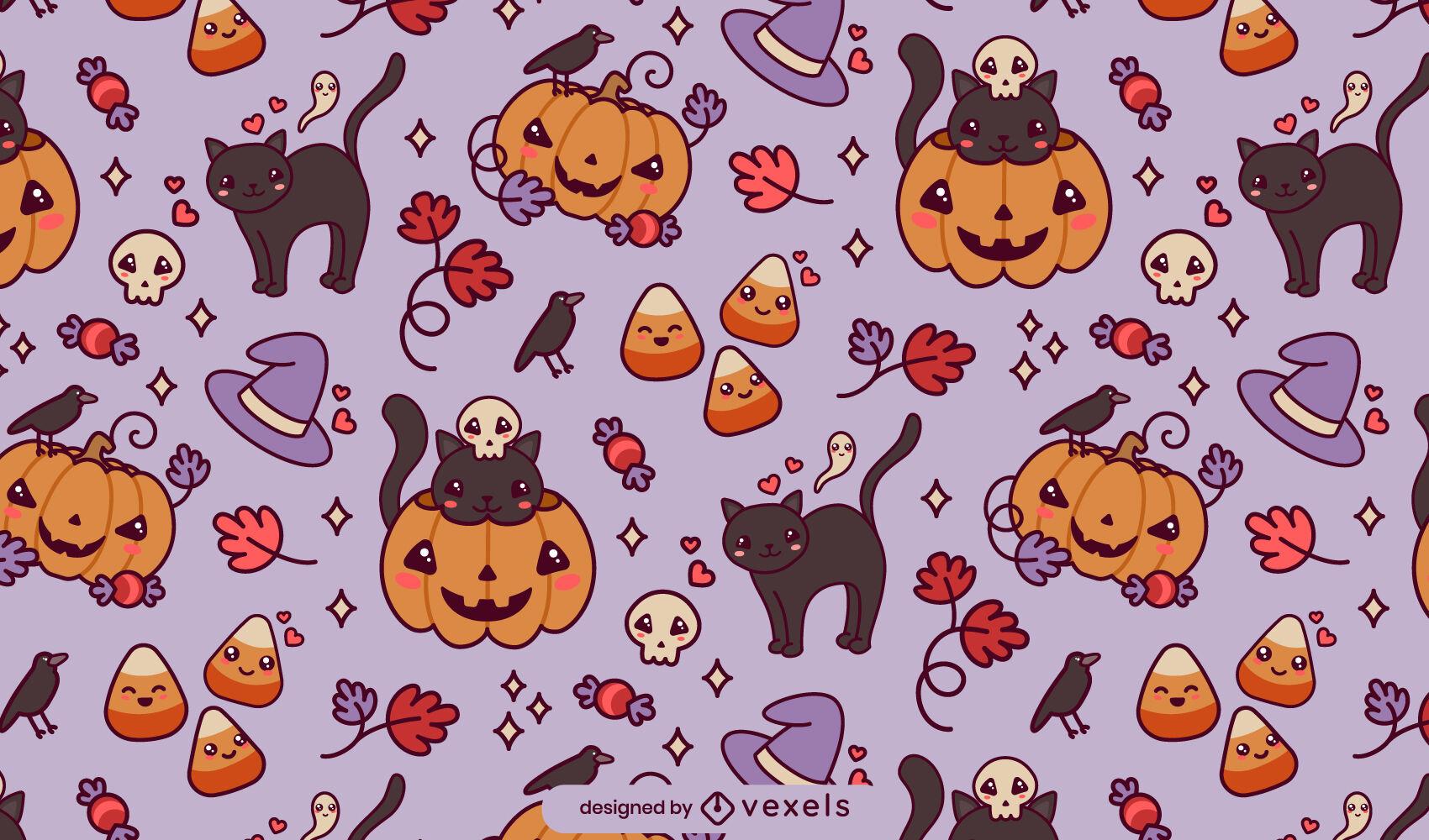 Lindo dise?o de patr?n de Halloween