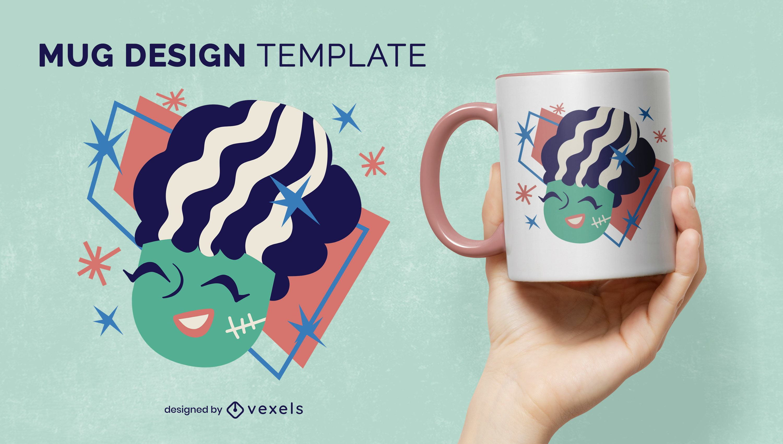 Diseño lindo de la taza de la novia de Frankenstein