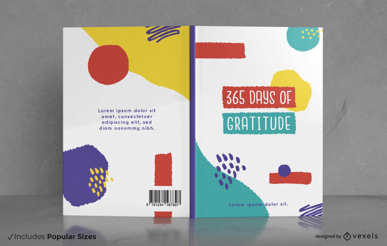 365 d?as de portada de libro de diario de gratitud