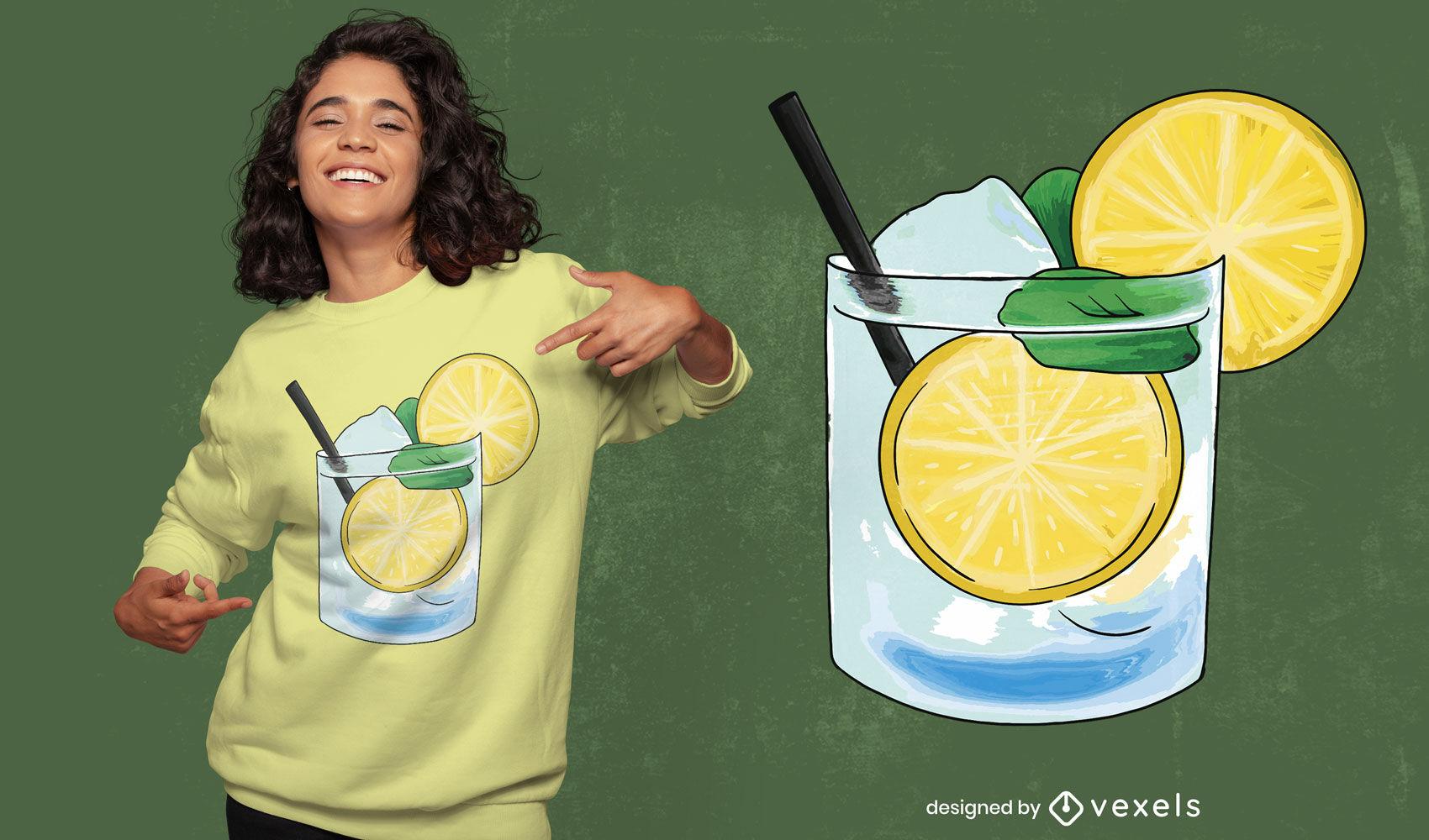 Caipirinha glass t-shirt design