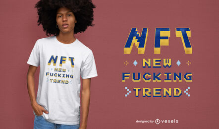 Diseño de camiseta NFT trend pixel art