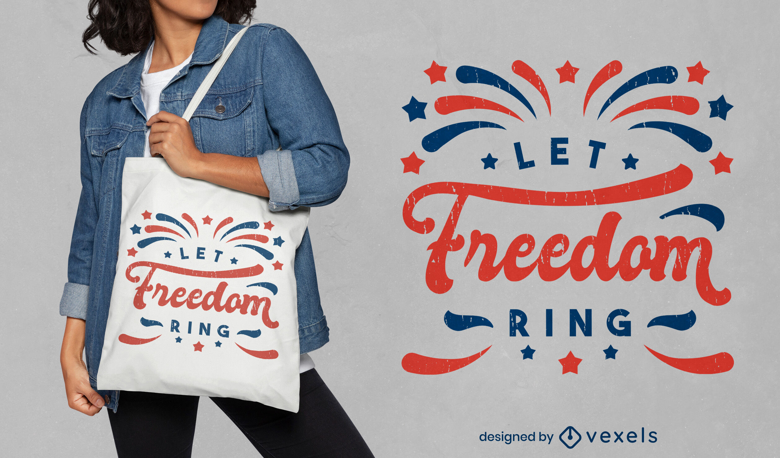 Independence day freedom tote bag design