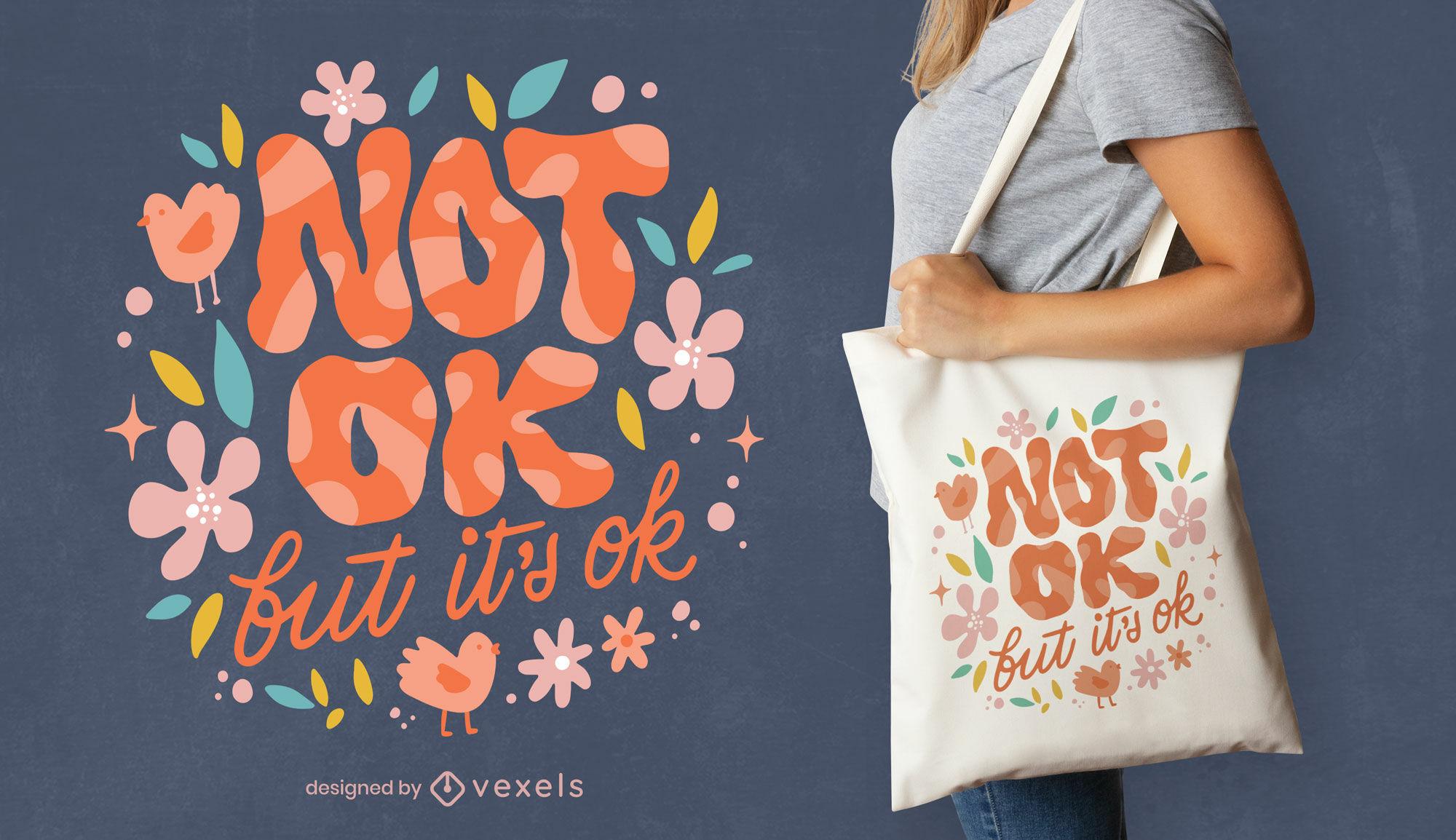 Motivational neurodiversity tote bag design