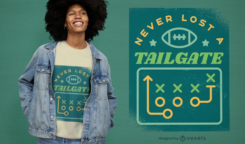 Design de camisetas esportivas de futebol americano