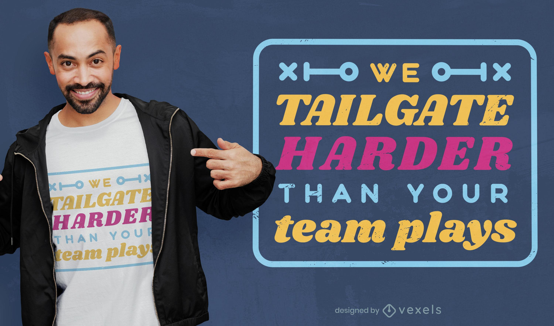 Design de camiseta para festa esportiva de futebol americano