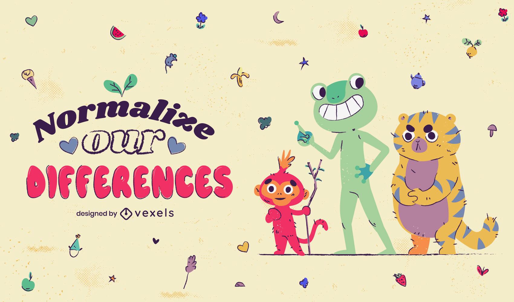 Cute neurodiversity illustration design