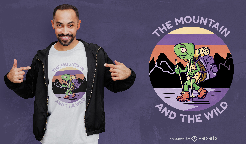 Desenho de t-shirt de tartaruga em desenho animado animal