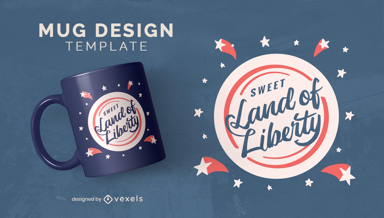 Independence day liberty mug template