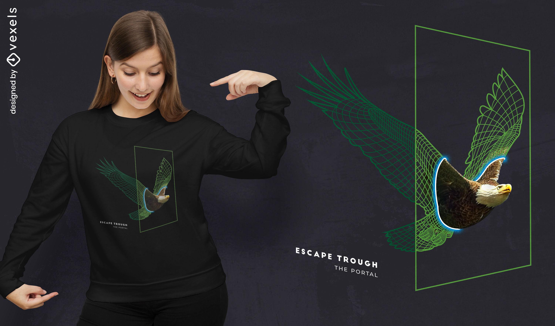Adler Vogel Tierportal T-Shirt PSD