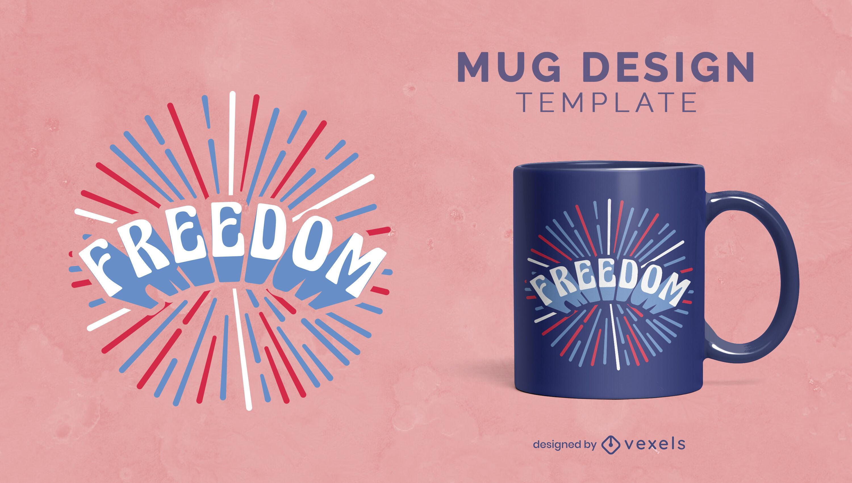 Independence day freedom mug design