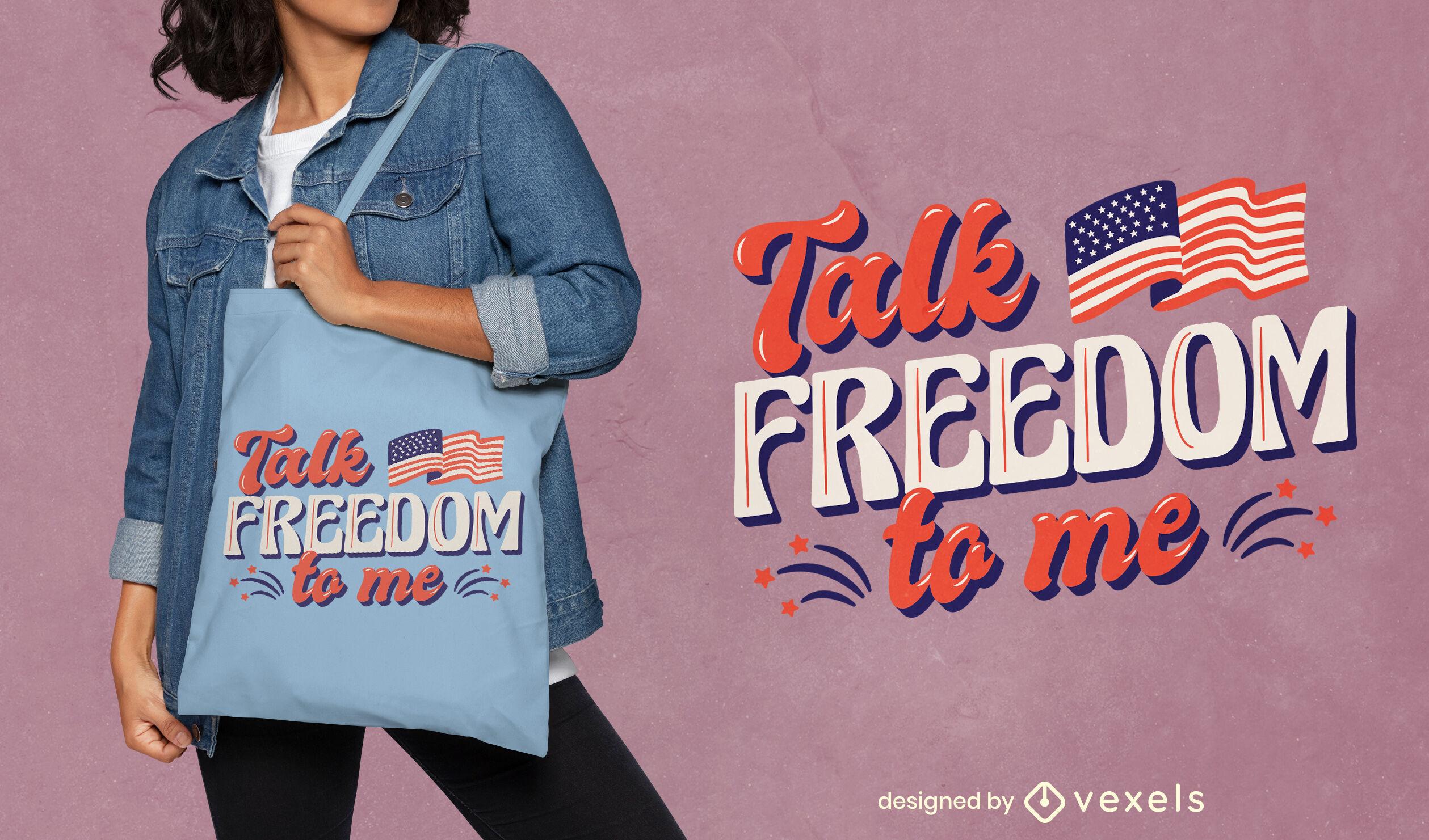 Design de sacola para o feriado do Dia da Independência