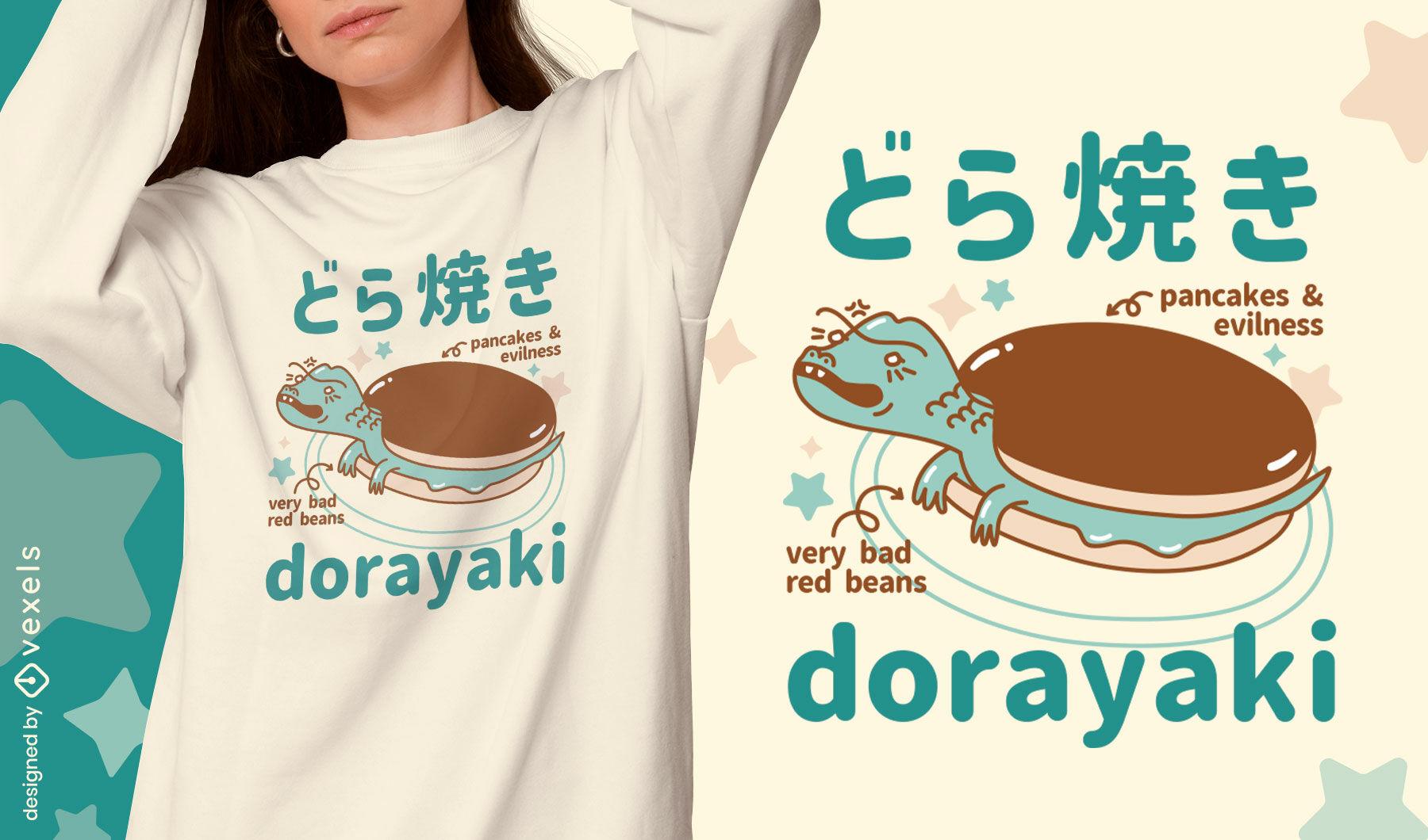Dise?o de camiseta de monstruo de panqueques japon?s