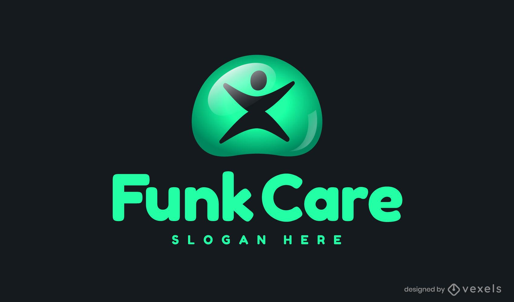 Green logo template design