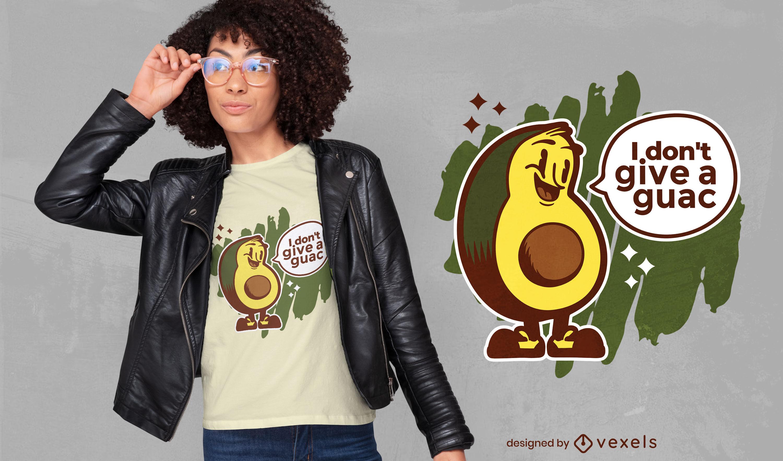 Funny avocado quote t-shirt design