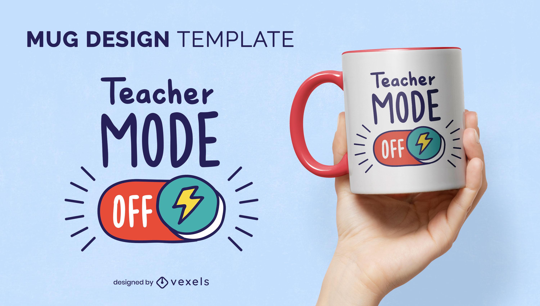 Teacher mode on education mug design