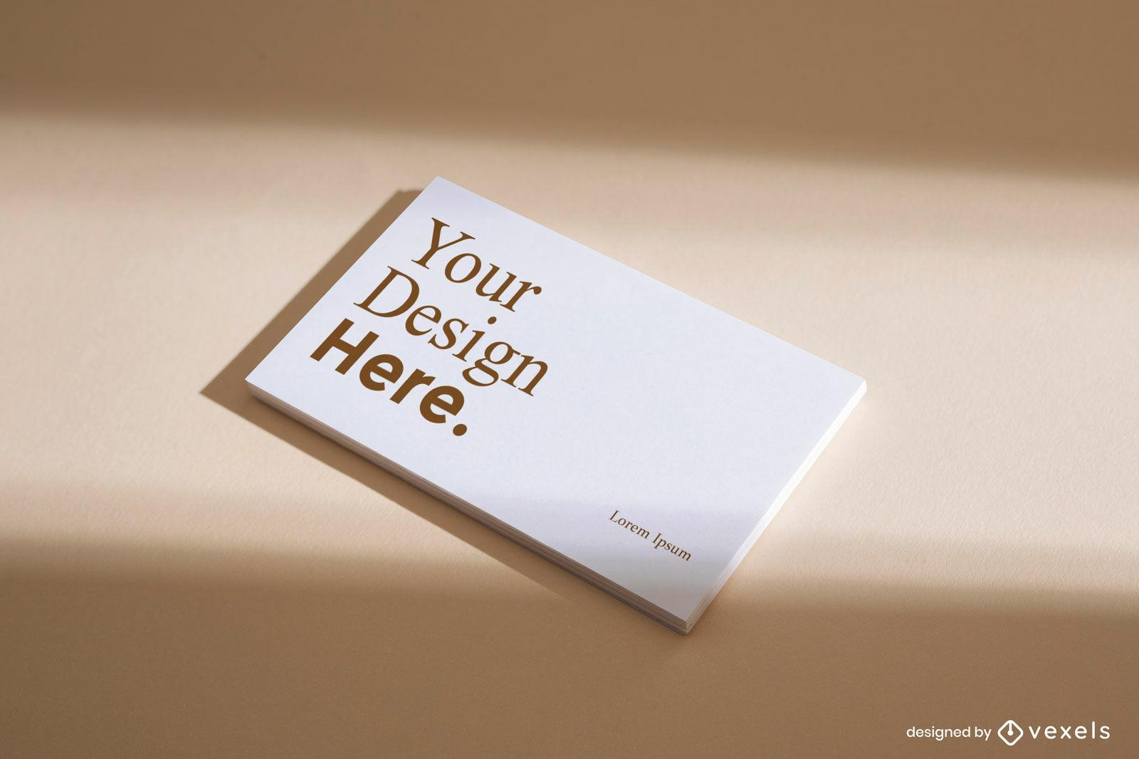 Maquete de cartão de visita simples branco